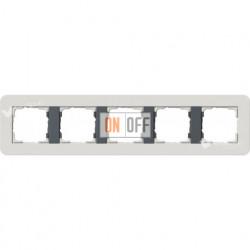 Рамка пятерная  Gira E3  светло-серый/антрацит 0215421