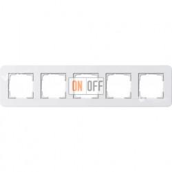 Рамка пятерная  Gira E3 белый глянцевый 0215410