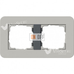 Рамка двойная  Gira E3  серый/антрацит 0212422