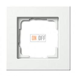 Рамка одинарная Gira E 22, белый глянцевый 0211201