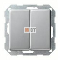 Выключатель двухклавишный, проходной (вкл/выкл с 2-х мест) 10 А / 250 В~ 010800 - 0295203