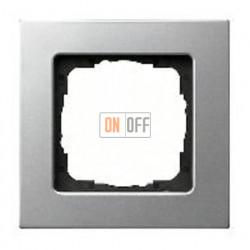 Рамка одинарная Gira E 22, алюминий 0211203