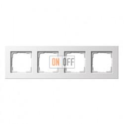 Рамка четверная, для гориз./вертик. монтажа Gira E 22, белый глянцевый 0214201