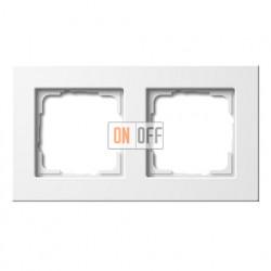 Рамка двойная, для гориз./вертик. монтажа Gira E 22, белый глянцевый 0212201