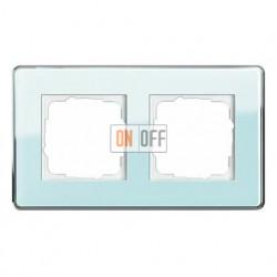 Рамка двойная, для гориз./вертик. монтажа Gira Esprit Glass C салатовое стекло 0212518