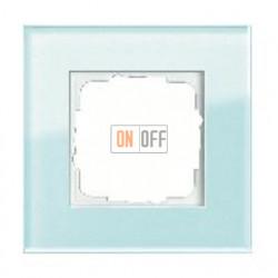 Рамка одинарная Gira Esprit салатовое стекло 021118