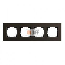Рамка четверная, для гориз./вертик. монтажа Gira Esprit алюминий коричневый 0214127