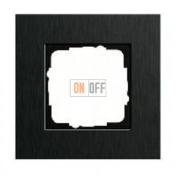 Рамка одинарная Gira Esprit алюминий черный 0211126