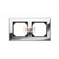 Рамка двойная, для гориз./вертик. монтажа Gira Esprit хром 021210