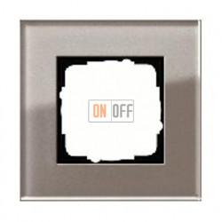 Рамка одинарная Gira Esprit дымчатое стекло 0211122