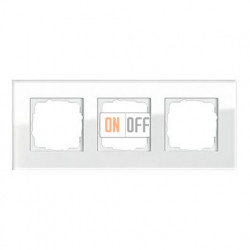 Рамка тройная, для гориз./вертик. монтажа Gira Esprit белое стекло 021312