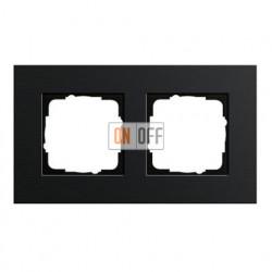 Рамка двойная, для гориз./вертик. монтажа Gira Esprit алюминий черный 0212126