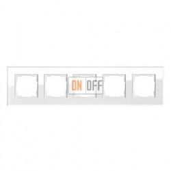Рамка пятерная, для гориз./вертик. монтажа Gira Esprit белое стекло 021512