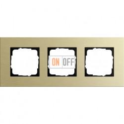 Рамка тройная Gira Esprit алюминий-светлое золото 0213217