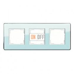Рамка тройная, для гориз./вертик. монтажа Gira Esprit Glass C салатовое стекло 0213518