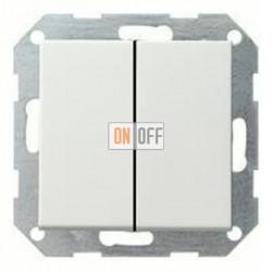 Выключатель двухклавишный, проходной (вкл/выкл с 2-х мест) 10 А / 250 В~ 010800 - 029527
