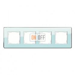 Рамка четверная, для гориз./вертик. монтажа Gira Esprit Glass C салатовое стекло 0214518