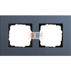 Рамка двухместная Gira Linoleum-Multiplex, синий 0212227