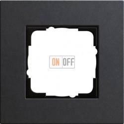 Рамка одноместная Gira Linoleum-Multiplex, антрацит 0211226