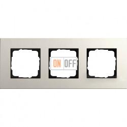 Рамка трехместная Gira Linoleum-Multiplex, светло-серый 0213220