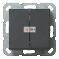 Выключатель двухклавишный, проходной (вкл/выкл с 2-х мест) 10 А / 250 В~ 010800 - 029528