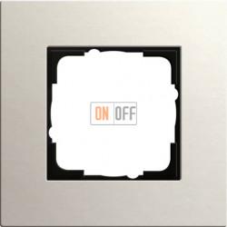 Рамка одноместная Gira Linoleum-Multiplex, светло-серый 0211220