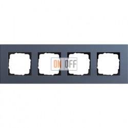 Рамка четырехместная Gira Linoleum-Multiplex, синий 0214227
