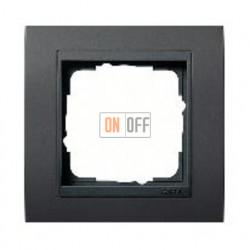 Рамка одинарная Gira Event черный/антрацит 021108