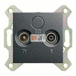 Розетка телевизионная проходная TV FM, диапазон частот от 4 до 2400 MГц 004100 - 086928