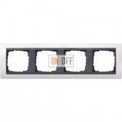 Рамка четверная Gira Event белый глянец/антрацит 0214808