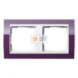 Рамка двойная, для гориз./вертик. монтажа Gira Event Clear темно-фиолетовый-белый глянец 0212753