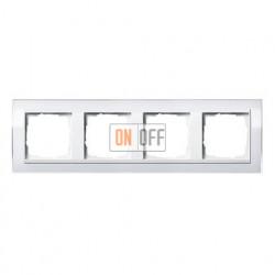 Рамка четверная, для гориз./вертик. монтажа Gira Event Clear  белый глянец-белый 0214723