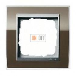 Рамка одинарная Gira Event Clear коричневый-алюминий 0211766