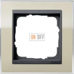 Рамка одинарная Gira Event Clear песочный-антрацит 0211778