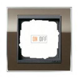 Рамка одинарная Gira Event Clear коричневый-антрацит 0211768