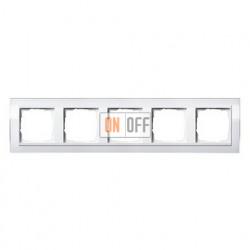 Рамка пятерная, для гориз./вертик. монтажа Gira Event Clear  белый глянец-белый 0215723