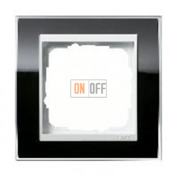 Рамка одинарная Gira Event Clear черный-белый глянец 0211733