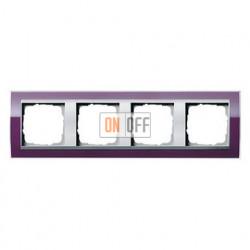 Рамка четверная, для гориз./вертик. монтажа Gira Event Clear темно-фиолетовый-алюминий 0214756