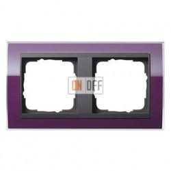 Рамка двойная, для гориз./вертик. монтажа Gira Event Clear темно-фиолетовый-антрацит 0212758