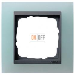 Рамка одинарная Gira Event Opaque салатовый/антрацит 021185