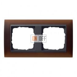 Рамка двойная Gira Event Opaque матово-коричневый/антрацит 021213