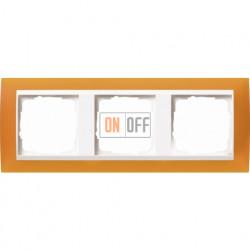 Рамка тройная Gira Event Opaque матово-янтарный/бел. Глянец 0213332