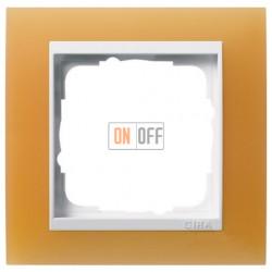Рамка одинарная Gira Event Opaque матово-оранжевый/бел. глянец 0211397