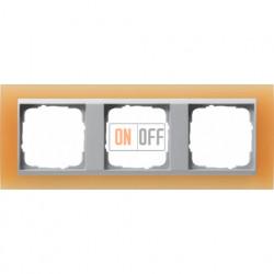 Рамка тройная Gira Event Opaque матово-оранжевый/алюминий 021353