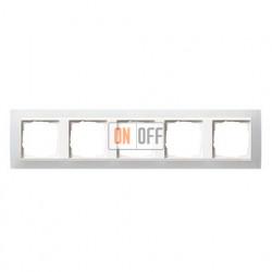 Рамка пятерная Gira Event Opaque матово-белый/глянц.белый 0215334
