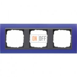 Рамка тройная Gira Event Opaque матово-синий/антрацит 021389