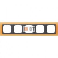 Рамка пятерная Gira Event Opaque матово-оранжевый/антрацит 021587