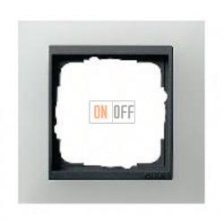 Рамка одинарная Gira Event Opaque матово-белый/антрацит 021124