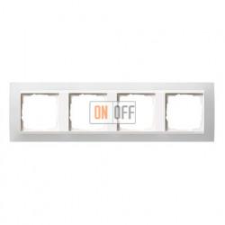 Рамка четверная Gira Event Opaque матово-белый/глянц.белый 0214334
