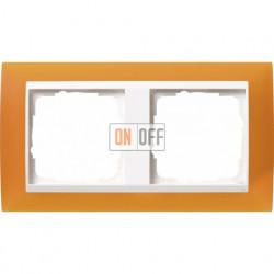 Рамка двойная Gira Event Opaque матово-янтарный/бел. Глянец 0212332